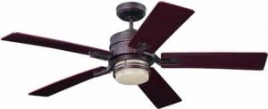 Emerson Ceiling Fans CF880VNB Amhurst Indoor Ceiling Fan With Light And Wall Control, 54-Inch Blades, Venetian Bronze
