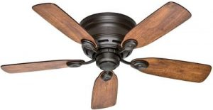 Hunter Fan Company 51061 Hunter 42in Low Profile IV Ceiling Fan, New Bronze