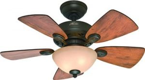 Hunter Fan Company Hunter 52090 Transitional 34in Ceiling Fan from Watson Collection Dark Finish, inch, New Bronze