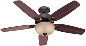 Hunter Fan Company Hunter 53091 Transitional 52in Ceiling Fan from Builder Deluxe collection Dark finish, New Bronze