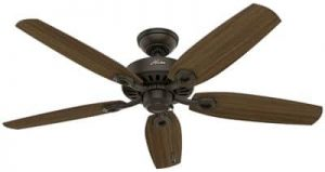 Hunter Fan Company Hunter 53242 Transitional 52in Ceiling Fan from Builder Elite collection Dark finish, New Bronze