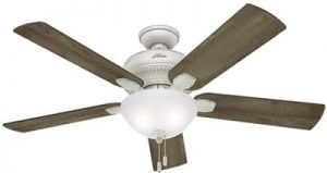 Hunter Fan Company Hunter 54091 Transitional 52in Ceiling Fan from Matheston Collection Finish, 54-inch, Cottage White