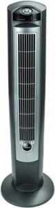 Lasko Portable Electric 42in Oscillating Tower Fan with Nighttime Setting, Timer and Remote Control for Indoor, Bedroom and Home Office Use, Silver T42951