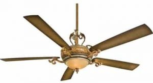 Minka-Aire F715-TSP, Napoli II Tuscan Patina 68in Ceiling Fan with Light & Wall Control