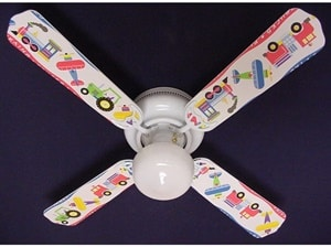 Planes Trains Trucks Indoor Ceiling Fan