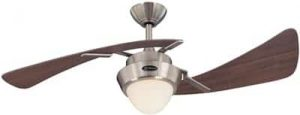 Westinghouse Lighting 7214100 Harmony Indoor Ceiling Fan with Light, 48 Inch, Brushed Nickel