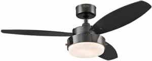 Westinghouse Lighting 7876400 Alloy 42-Inch Gun Metal Indoor Ceiling Fan, Light Kit with Opal Frosted Glass, 42 Inch