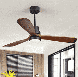 Cottage 52in LED Ceiling Fan with Light 3 Dark Walnut Blades Glass Shade Ceiling Fan with Remote Control
